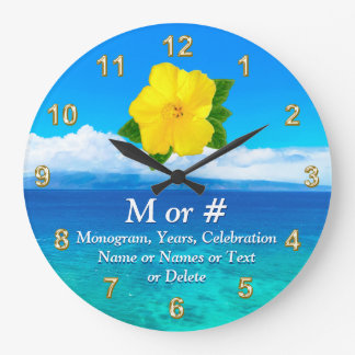 Personalized Tropical Clock for Your Celebration
