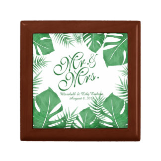 Personalized Tropical Green Wedding Gift Box