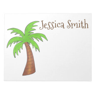 Personalized Tropical Island Palm Tree Notepad