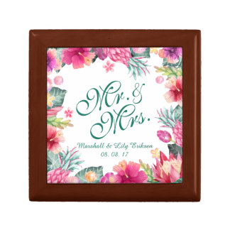 Personalized Tropical Wedding Gift Box