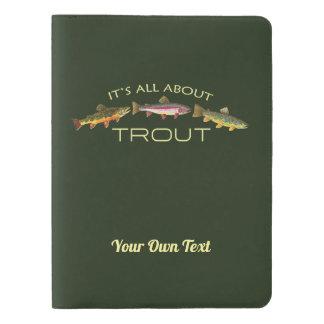 Personalized Trout Fishing Extra Large Moleskine Notebook