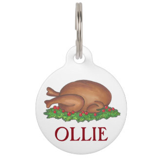 Personalized Turkey Dinner Foodie Pet Dog Tag