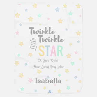 Personalized Twinkle Twinkle Little Star Boy/Girl Baby Blanket