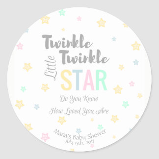 Personalized Twinkle Twinkle Little Star - Sticker