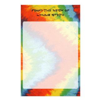 Personalized Tye Dye Stationary Customised Stationery