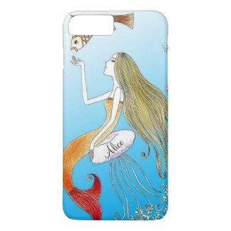 Personalized under the sea beautiful mermaid iPhone 8 plus/7 plus case