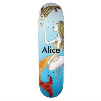 Personalized under the sea beautiful mermaid custom skateboard