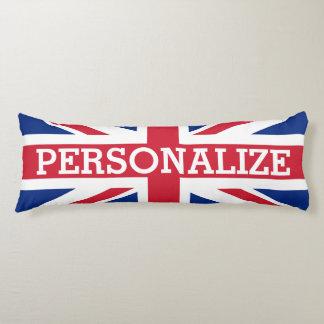 Personalized Union Jack Flag Body Cushion
