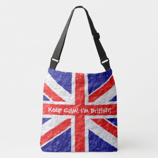 Personalized Union Jack Flag Design Crossbody Bag