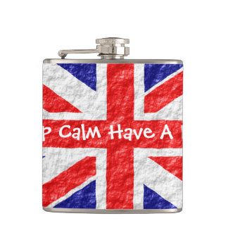Personalized Union Jack Flag Design Hip Flask