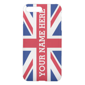 Personalized Union Jack Flag iPhone 7 Plus Case