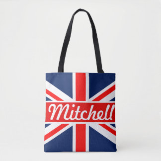 Personalized Union Jack Tote Bag