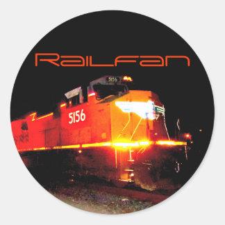 Personalized Union Pacific Orange Train Engine Round Sticker