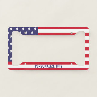 Personalized USA American Themed United States Licence Plate Frame