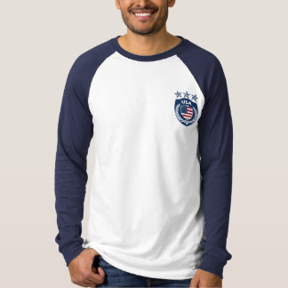 Personalized USA Sport Jersey Long Sleeve Raglan T-Shirt