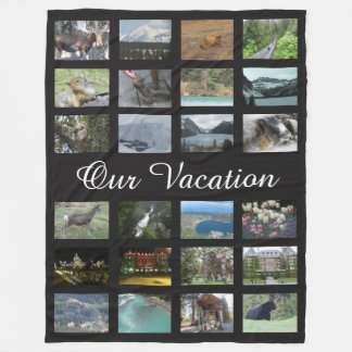Personalized Vacation Photo Fleece Blanket
