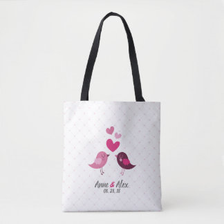 Personalized Valentine Wedding Anniversary Tote Ba
