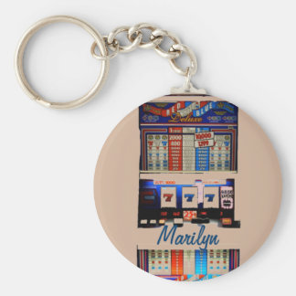 Personalized Vegas Style Slot Machine Key Ring