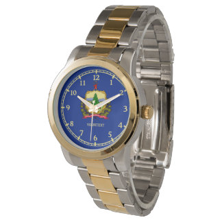 Personalized Vermont State Flag Design Watch