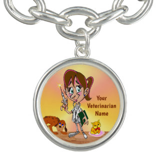 Personalized Veterinarian Charm Bracelet or Charm