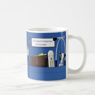 Personalized Veterinary Professional Scrubs Blue Coffee Mug