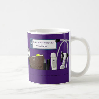 Personalized Veterinary Professional Scrubs Purple Coffee Mug