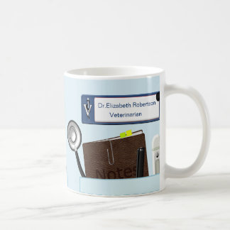 Personalized Veterinary Scrubs Light Blue Coffee Mug