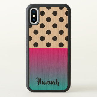 Personalized Vibrant Gradation Dots iPhone X Case