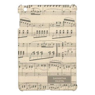 Personalized Vintage Antique Music iPad Mini Cover