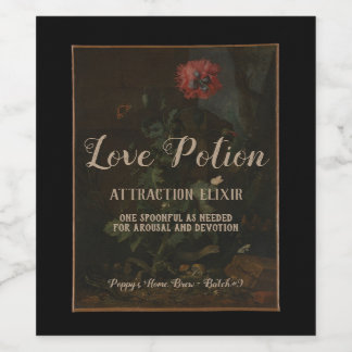 Personalized Vintage Apothecary Jar Love Potion Wine Label