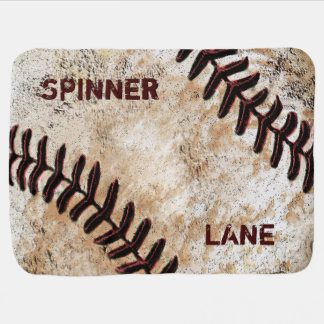 Personalized Vintage Baseball Baby Gifts, BLANKET