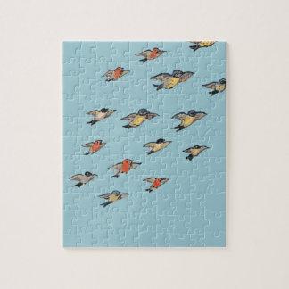 Personalized | Vintage Bird Design Jigsaw Puzzle