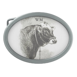 Personalized Vintage Bull Belt Buckle