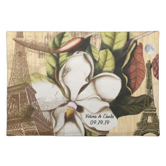 Personalized Vintage Eiffel Tower Collage Placemats