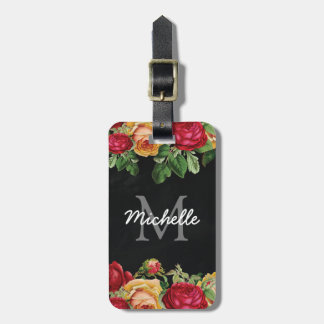 Personalized Vintage Floral Travel Bag Tag