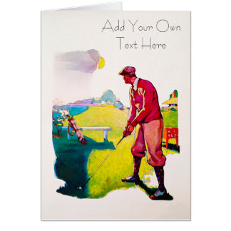 Personalized Vintage Golf Card