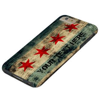 Personalized Vintage Grunge Chicago Flag Tough iPhone 6 Plus Case