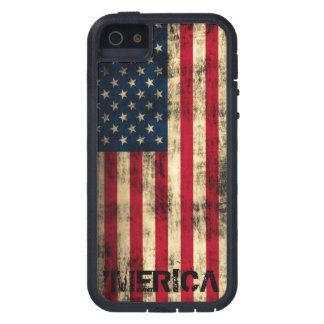 Personalized Vintage Grunge 'Merica Flag Case For The iPhone 5