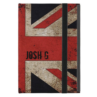 Personalized Vintage Grunge UK Flag iPad Mini Cover