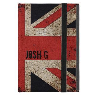 Personalized Vintage Grunge UK Flag iPad Mini Cover