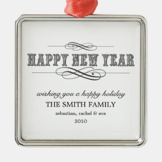 PERSONALIZED VINTAGE HOLIDAY ORNAMENT