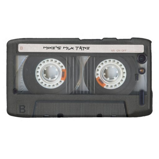 Personalized Vintage Mix Tape Motorola Droid RAZR Cover