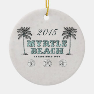Personalized Vintage Myrtle Beach South Carolina Ceramic Ornament