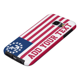 Personalized Vintage Nautical Patriotic Flag Samsung Galaxy S6 Cases
