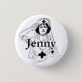 Personalized Vintage Nurse Graphics Button