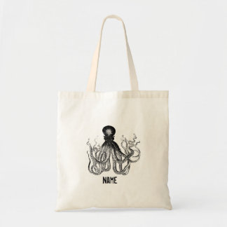 Personalized Vintage Octopus Bags