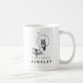 Personalized Vintage Owl Collage Coffee Mug