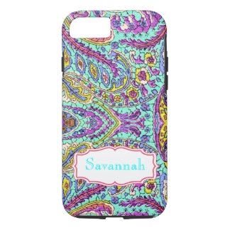 Personalized Vintage Paisley Pattern iphone iPhone 7 Case
