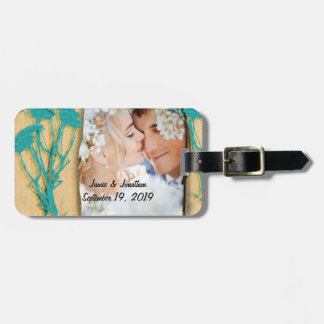 Personalized Vintage Photo Collage Luggage Tag