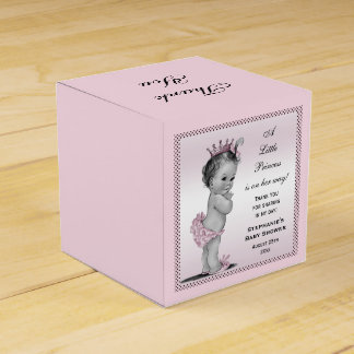 Personalized Vintage Princess Baby Thank You Party Favor Boxes